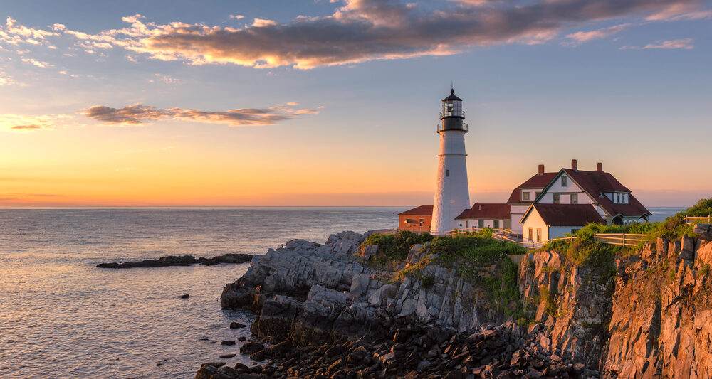 A lighthouse on the coast of Maine a great East Coast road trip