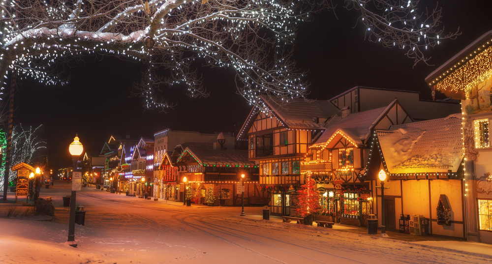 a photo of Christkindkmarket one of the coolest leavenworth winter activities