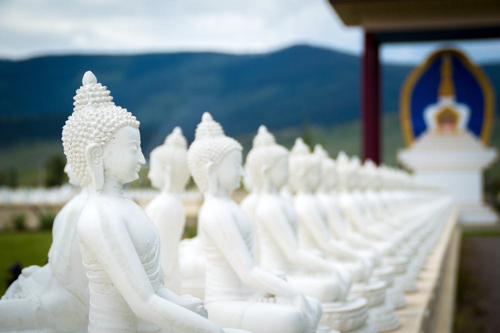 a photo of the garden of one thousand buddhas one of the best places to visit in montana
