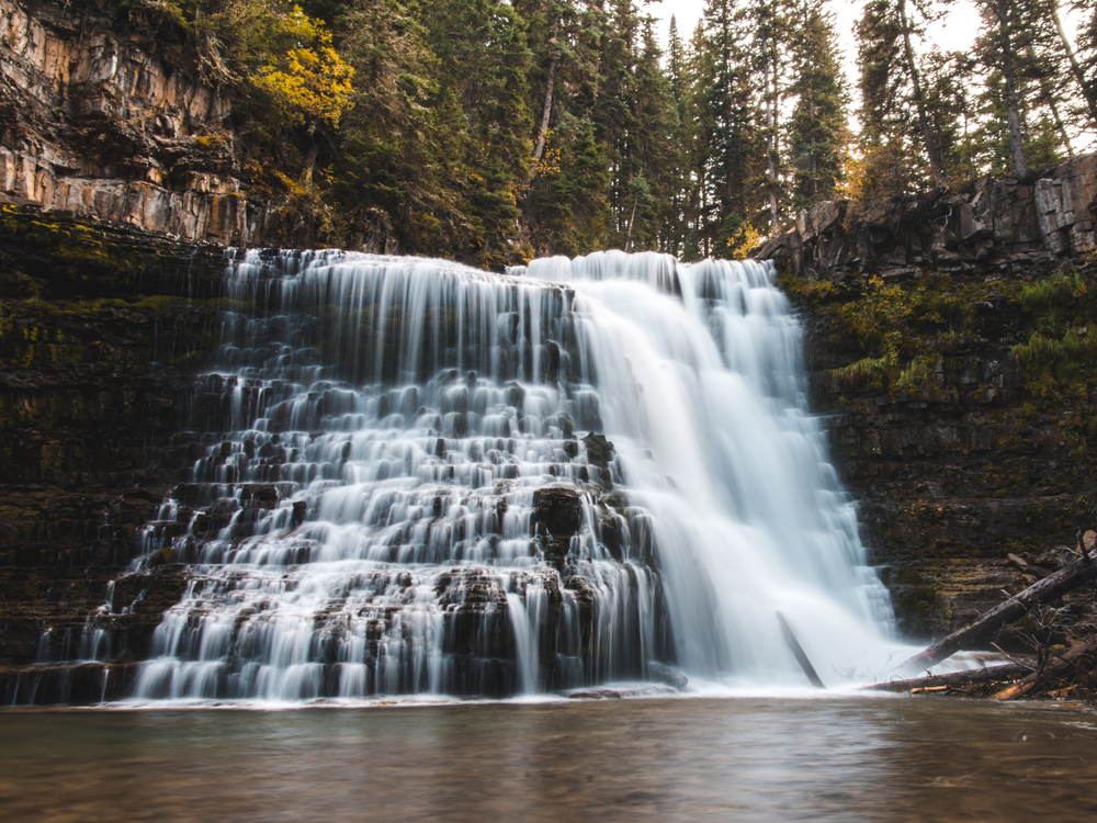 a photo of ousel falls park one of the best montana attractions
