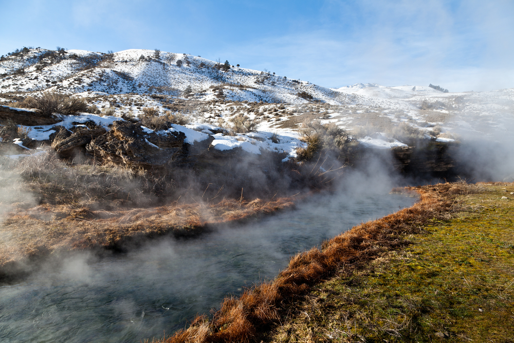 a photo of a natural hot springs one of the coolest things to see in montana