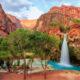 blue waterfall during a weekend getaway in arizona