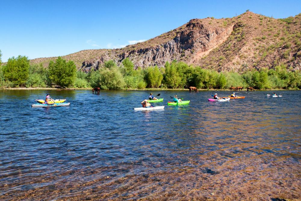 tubing down the Salt River is one of the best weekend getaways in Arizona