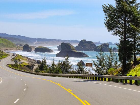 driving the oregon coast on a west coast road trip
