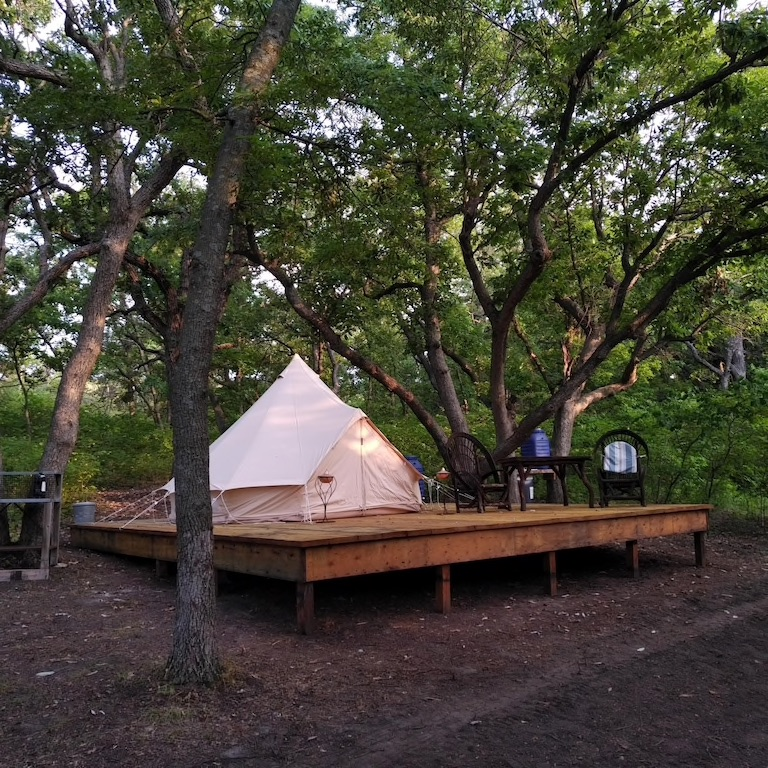 Bell Tent is one of the most unique VRBOs in Kansas